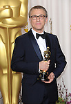 Christoph Waltz in the press room at the 85th Academy Awards, held at the Dolby Theater in Los Angeles, CA. February 24, 2013