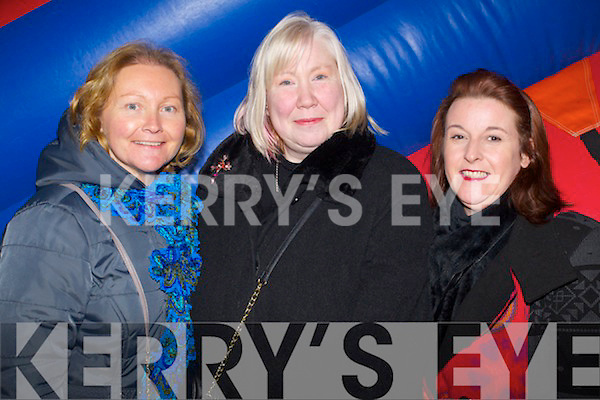 Amanda Dineen (Lixnaw) Denise O'Sullivan and Linda Ahern (Tralee) enjoying the New Year's Eve fire works display at Manor East, Tralee on Tuesday night.