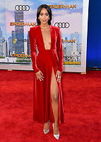 Laura Harrier at the world premiere for &quot;Spider-Man: Homecoming&quot; at the TCL Chinese Theatre, Los Angeles, USA 28 June  2017<br /> Picture: Paul Smith/Featureflash/SilverHub 0208 004 5359 sales@silverhubmedia.com