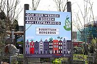 Nederlan, Oss, maart 2019. Stadsboeren in Oss. Buurttuin Bergboss.   Foto Berlinda van Dam / Hollandse Hoogte