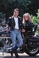 Pricilla Presley and daughter Lisa Marie Presley, Los Angeles, California, 1988. Photo by John G. Zimmerman.