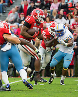 ATHENS, GEORGIA - September 26, 2015: University of Georgia Bulldogs vs. Southern Jaguars at Sanford Stadium.   Final score Georgia 48, Southern 6.