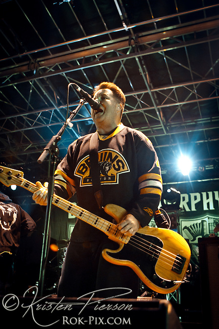 Dropkick Murphys performing at the Whiskey Republic in Providence on September 16, 2011