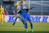 Milan Skriniar of Internazionale and Antonino La Gumina of Empoli compete for the ball during the Serie A 2018/2019 football match between Empoli and Internazionale at stadio Castellani, Empoli, December, 29, 2018 <br /> Foto Andrea Staccioli / Insidefoto