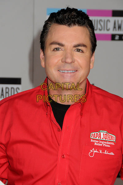 John Schnatter.2011 American Music Awards - Arrivals held at Nokia Theatre LA Live, Los Angeles, California, USA..November 20th, 2011.ama amas ama's headshot portrait black red shirt papa john's.CAP/ADM/BP.©Byron Purvis/AdMedia/Capital Pictures.
