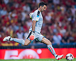 Gianluigi Buffon of Italy in action during their 2018 FIFA World Cup Russia Final Qualification Round 1 Group G match between Spain and Italy on 02 September 2017, at Santiago Bernabeu Stadium, in Madrid, Spain. Photo by Diego Gonzalez / Power Sport Images