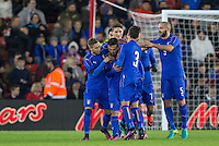 Italy celebrate Federico Di Francesco (Bologna) of Italy goal putting them in front making it 1 2 during the Under 21 International Friendly match between England and Italy at St Mary's Stadium, Southampton, England on 10 November 2016. Photo by Andy Rowland.