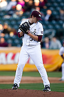Zach Merciez (33) of the Missouri State Bears on the mound during a game against the Southern Illinois University- Edwardsville Cougars at Hammons Field on March 9, 2012 in Springfield, Missouri. (David Welker / Four Seam Images)
