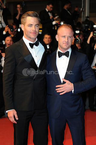 Ben Foster and actor Chris Pine at the 'Hell or High Water' screening during The 69th Annual Cannes Film Festival on May 16, 2016 in Cannes, France.<br /> CAP/LAF<br /> &copy;Lafitte/Capital Pictures /MediaPunch ***NORTH AND SOUTH AMERICA ONLY***