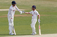 Paul Walter (left) and Adam Wheater (right) of Essex touch gloves between overs during Essex CCC vs Surrey CCC, Bob Willis Trophy Cricket at The Cloudfm County Ground on 8th August 2020