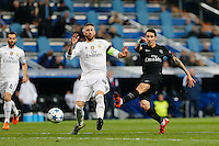 Paris Saint Germain´s forward Angel Di Maria and Real Madrid's Spanish defense Sergio Ramos