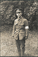 BNPS.co.uk (01202 558833)<br /> Pic: Pen&amp;Sword/BNPS<br /> <br /> Ivan Lancelot Bawtree in uniform attached to the British Red Cross, 1915.<br /> <br /> A poignant collection of images which were taken by a photographer who documented the graves of fallen soldiers on the Western Front have come to light in a new book.<br /> <br /> Ivan Bawtree was one of only three professional photographers assigned to the the Graves Registration Units to photograph and record the graves of fallen First World War soldiers on behalf of grieving relatives. <br /> <br /> His powerful photos of northern France and Flanders are a haunting reminder of the horrors of war and a fascinating insight into the early work of the Imperial War Graves Commission. <br /> <br /> Prior to the First World War, the casualties of war were generally buried in unmarked mass graves.