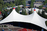 aerial photograph Shoreline Amphitheater Mountain View, California