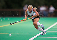 STANFORD, CA - September 3, 2010: Emily Henriksson during a field hockey match against UC Davis in Stanford, California. Stanford won 3-1.