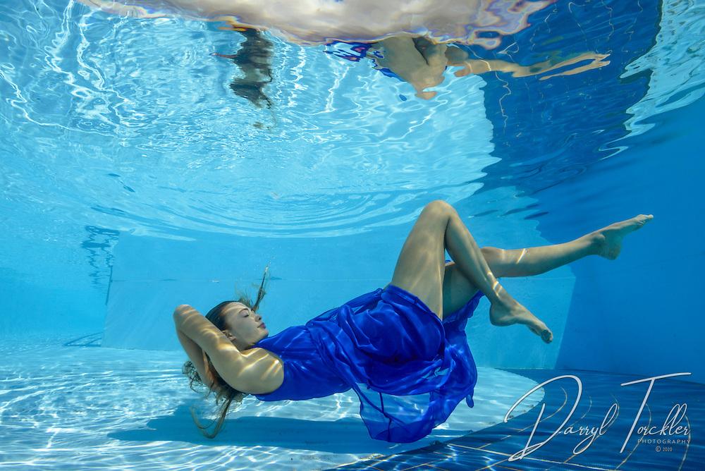 Nude Woman Suspends Herself Underwater, HI Posters