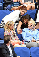 FLUSHING NY- SEPTEMBER 10: Debra Messing, Mariska Hargitay and Candice Bergen at the US Open Men's Final Championship match at the USTA Billie Jean King National Tennis Center on September 10, 2017 in Flushing, Queens. <br /> CAP/MPI/PAL<br /> &copy;PAL/MPI/Capital Pictures