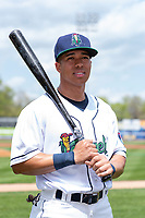 Cedar Rapids Kernels outfielder Gabriel Maciel (19) poses for a photo before a Midwest League game against the Dayton Dragons at Perfect Game Field on May 5, 2019 in Cedar Rapids, Iowa. (Zachary Lucy/Four Seam Images)