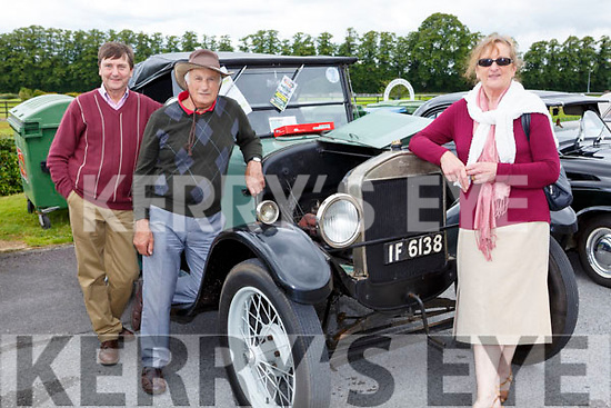 Bill Smith, with John and Joan Mitchell Kilgarvan and their 1926 Model T Ford at the Killarney Vintage rally on Sunday