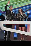 Jaime Cantizano and Tamara Falco during the gala of '40 Principales Awards 2013'.December 12,2013. (ALTERPHOTOS/Mikel)