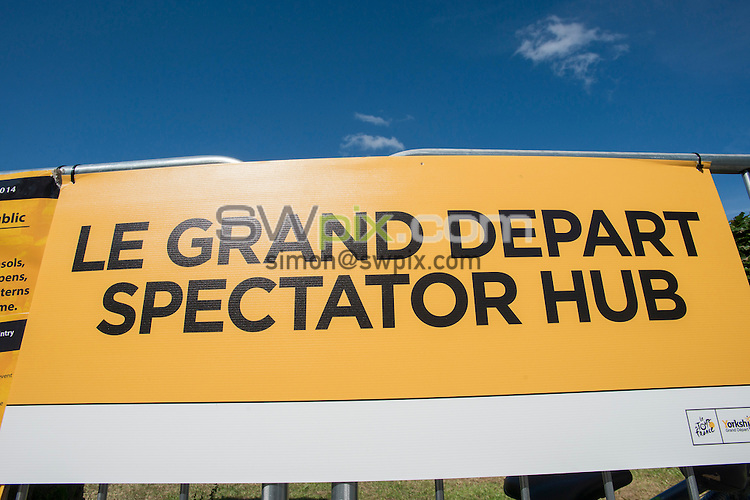 Picture by Allan McKenzie/SWpix.com -  05/07/2014 - Cycling - Tour de France 2014 Grand Depart - Stage 1, Leeds to Harrogate - Yorkshire, England - Ilkley's Spectator Hub sign.