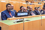 Vanuatu<br /> H.E. Mr. Charlot Salwai Tabimasmas<br /> Prime Minister<br /> <br /> General Assembly Seventy-first session, 17th plenary meeting<br /> General Debate