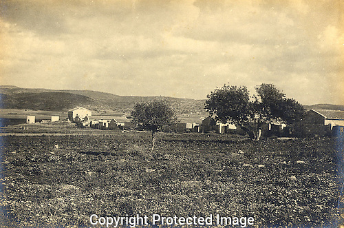 Landscape view of Atlit, Carmel Coast, taken 1912 by Leo Kann.
