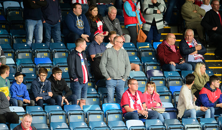 Lincoln City fans enjoy the pre-match atmosphere<br /> <br /> Photographer Andrew Vaughan/CameraSport<br /> <br /> The EFL Sky Bet League One - Wycombe Wanderers v Lincoln City - Saturday 7th September 2019 - Adams Park - Wycombe<br /> <br /> World Copyright © 2019 CameraSport. All rights reserved. 43 Linden Ave. Countesthorpe. Leicester. England. LE8 5PG - Tel: +44 (0) 116 277 4147 - admin@camerasport.com - www.camerasport.com