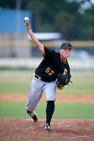 Pittsburgh Pirates relief pitcher Hunter Stratton (52) delivers a pitch during a Florida Instructional League game against the Toronto Blue Jays on September 20, 2018 at the Englebert Complex in Dunedin, Florida.  (Mike Janes/Four Seam Images)