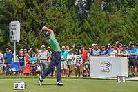 Justin Thomas (USA) watches his tee shot on 4 during 4th round of the World Golf Championships - Bridgestone Invitational, at the Firestone Country Club, Akron, Ohio. 8/5/2018.<br /> Picture: Golffile | Ken Murray<br /> <br /> <br /> All photo usage must carry mandatory copyright credit (© Golffile | Ken Murray)