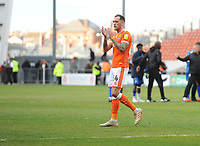 Blackpool's Harry Pritchard applauds fans at full time<br /> <br /> Photographer Kevin Barnes/CameraSport<br /> <br /> The EFL Sky Bet League One - Blackpool v Gillingham - Saturday 4th May 2019 - Bloomfield Road - Blackpool<br /> <br /> World Copyright © 2019 CameraSport. All rights reserved. 43 Linden Ave. Countesthorpe. Leicester. England. LE8 5PG - Tel: +44 (0) 116 277 4147 - admin@camerasport.com - www.camerasport.com