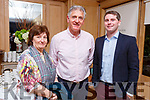 Former principals Elma Murphy and Mike Sweeney with the new principle of O'Breannan NS, Barry O'Leary as they celebrate the 150th anniversary of O'Brennan National School BBQ in the Ballygarry House Hotel on Friday night.
