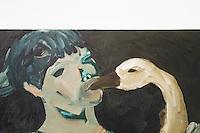 """SÃO PAULO,SP,02.04.2015- INSTITUTO TOMIE OHTAKE/""""E SE QUEBRAREM AS LENTES EMPOEIRADAS""""-A Mostra conta com a participação do artista maranhense Marcone Moreira.Parte do programa Arte Atual, promove ações coletivas para artistas emergentes.Além de Marcone, os trabalhos de Eduardo Berliner e Thiago Rocha também fazem parte da mostra em colaboração com as Galerias Milan, Triângulo e Blau Projects. Fica em cartaz até o dia 10 de maio, de terça a domingo, das 11 às 20 horas.Instituto Tomie Ohtake,região oeste da cidade de São Paulo na noite dessa quinta-feira,02.(FOTO:KEVIN DAVID/BRAZIL PHOTO PRESS)."""