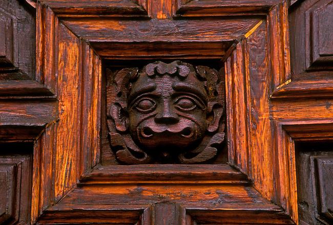 Door, entrance to Basilica de Nuestra Senora de Guanajuato, Plaza de la Paz, Guanajuato, Guanajuato State, Central Highlands, Mexico, North America