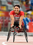 Chantal Petitclerc from Montreal Qc, qualified in the 400 m t-54<br />