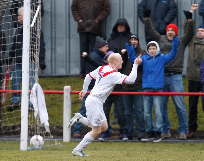 Airdrie's Scott Gemmill celebrates as he opens the scoring