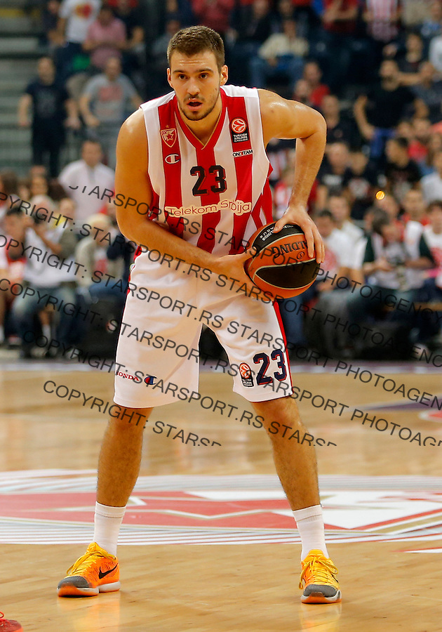 Marko Guduric Evroliga, Crvena Zvezda - Strazbur, Arena, Oktobar 15. 2015 Beograd, Srbija, 15.10.2015.  (credit image & photo: Pedja Milosavljevic / STARSPORT)