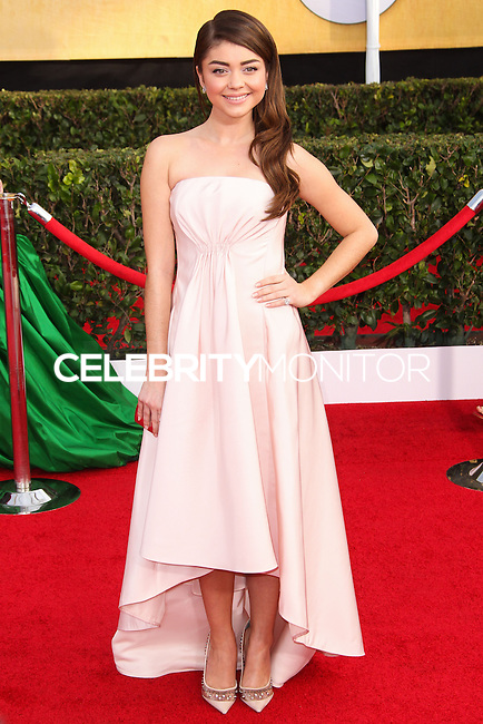 LOS ANGELES, CA - JANUARY 18: Sarah Hyland at the 20th Annual Screen Actors Guild Awards held at The Shrine Auditorium on January 18, 2014 in Los Angeles, California. (Photo by Xavier Collin/Celebrity Monitor)