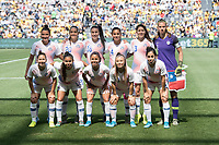 9th November 2019; Bankwest Stadium, Parramatta, New South Wales, Australia; International Womens Friendly Football, Australia versus Chile; Chile line up for a team photo before kick off - Editorial Use