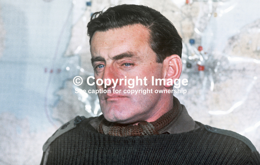 Colonel Ian Mennell, commanding officer, 1st Battalion, Royal Regiment of Wales, British Army, UK, November 1970. 197011000368IM1<br />