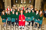Pupils from Aghatubrid NS who made their Confirmation in The O'Connell Memorial Church in Cahersiveen on Monday were front l-r; Caoimhe Cournane, Fergal O'Shea, Kate Sugrue, Niamh McCrohan, Eve North, Bishop Ray Browne, Caitlin Walsh, Vikki McCarthy, Lil Kelly, Rebecca Corcoran, Chloe Sheehan, middle l-r; Michéal Keating, Sammy Berhens, Mairéad Murphy, Davina O'Neill, Nessa Walsh, Jack Sugrue, Jason Berhens, Brendan Kelly, Mary O'Sullivan(teacher), back l-r; Canon Larry Kelly, Ciaran O'Connell, Orla Sugrue, Cathal O'Shea, Fr. Fergal Ryan, teachers Maire Ní Loinsigh, Ann Wharton & Sinead O'Sullivan.