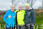 participants who took part in the Kerry's Eye Valentines Weekend 10 mile road race on Sunday were Fozzy Forristal, Mike Kissane, Tom Groke