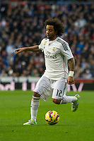Real Madrid´s Marcelo Vieira during 2014-15 La Liga match between Real Madrid and Deportivo de la Coruna at Santiago Bernabeu stadium in Madrid, Spain. February 14, 2015. (ALTERPHOTOS/Luis Fernandez) /NORTEphoto.com