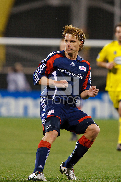 25 OCTOBER 2009:  Edgaras Jankauskas of the New England Revolution (10) during the New England Revolution at Columbus Crew MLS game in Columbus, Ohio on October 25, 2009.
