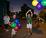 A photograph taken during the Pride Rainbow Crawl in downtown Reno on Friday night, July 27, 2018.