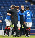 16.11.2019 Rangers Colts v Wrexham: Graeme Murty and Peter Lovenkrands at full time