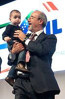 Carmelo Barbagallo nuovo Segretario della UIL con il nipote<br /> Roma 21-11-2014 Palazzo dei Congressi. XVI Congresso della UIL.<br /> Photo Samantha Zucchi Insidefoto