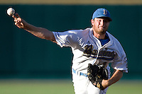 UCLA starting pitcher Gerrit Cole in Game One of the NCAA Division One Men's College World Series Finals on June 28th, 2010 at Johnny Rosenblatt Stadium in Omaha, Nebraska.  (Photo by Andrew Woolley / Four Seam Images)