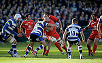 Louis Picamoles on the attack for Toulouse - European Rugby Champions Cup - Bath Rugby vs Toulouse - Recreation Ground Bath - Season 2014/15 - October 25th 2014 - <br /> Photo Malcolm Couzens/Sportimage