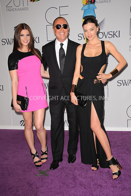 WWW.ACEPIXS.COM . . . . . .June 6, 2011...New York City.....Ashley Greene, Michael Kors and Miranda Kerr attend the 2011 CFDA Fashion Awards at Alice Tully Hall, Lincoln Center on June 6, 2011 in New York City......Please byline: KRISTIN CALLAHAN - ACEPIXS.COM.. . . . . . ..Ace Pictures, Inc: ..tel: (212) 243 8787 or (646) 769 0430..e-mail: info@acepixs.com..web: http://www.acepixs.com .