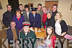 Cast members from Abbeyfeale Drama Group who were preforming  the the Brian Dennison play, 'The Con and the Constable', last Sunday night in Fr Casey's Abbeyfeale. Seating l-r:Dick Woulfe, Seamus Lane, Aoife Daly. Standing l-r: Brian Dennison(Director), Joan O'Connell, Mikey O'Connor, Lorcan MacCurtin, James Healy, Denis Hobson, Pat Scannell, Mary Murphy, Tom Kearney and Carmel O'Donnell.